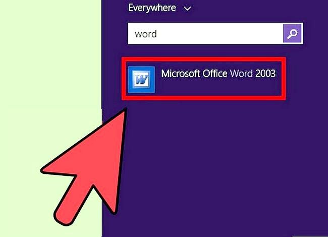 Titel afbeelding Access Word on Windows 8 Step 4