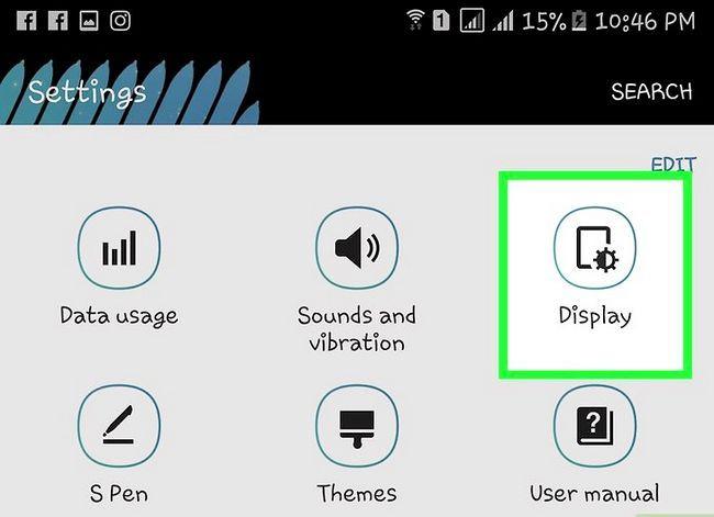 Titel afbeelding Activate Glove Mode op een Samsung Galaxy Device Stap 3