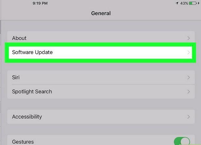 Titel afbeelding Update iOS Software op een iPad Stap 6