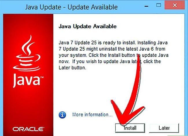 Titel afbeelding Update Java Step 11