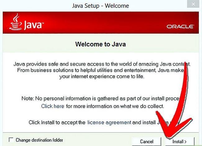 Titel afbeelding Update Java Step 12