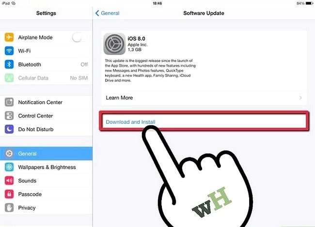 Titel afbeelding Update an iPad Step 3