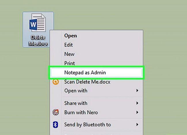 Titel afbeelding Add a Open with Notepad As Administrator & quot; Snelkoppeling naar het contextmenu in Windows 7 en Windows Vista Stap 5