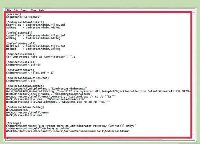 Titel afbeelding Voeg hier een opdrachtprompt toe als beheerder & quot; Snelkoppeling naar het contextmenu in Windows 7 en Windows Vista Stap 2
