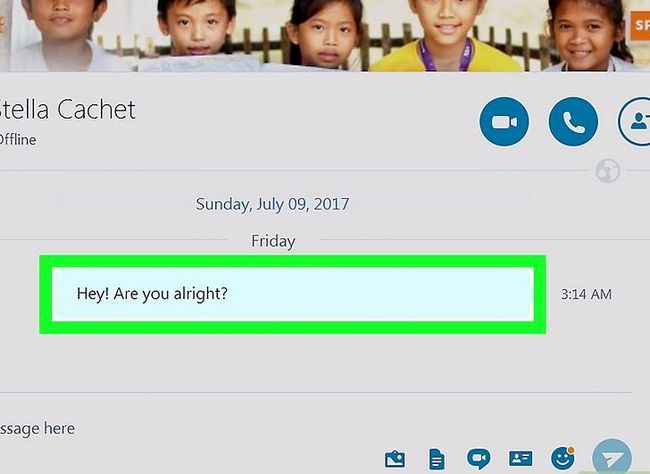 Titel afbeelding Delete Messages on Skype Step 10