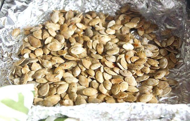 Titel afbeelding Cook Pumpkin Seeds Step 10
