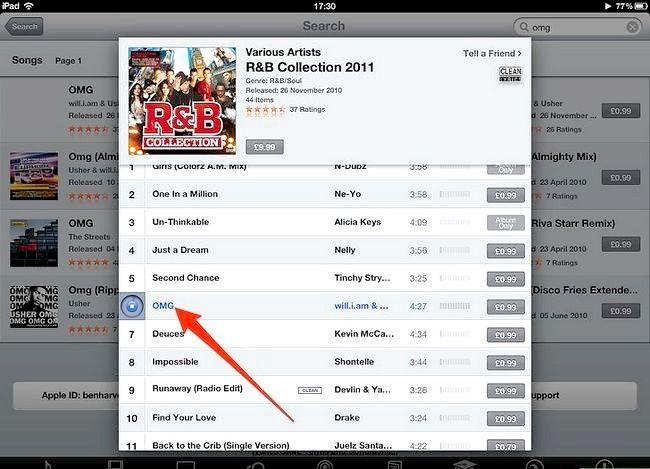 Afbeelding met de titel Koop muziek van iTunes vanaf je iPad Stap 6