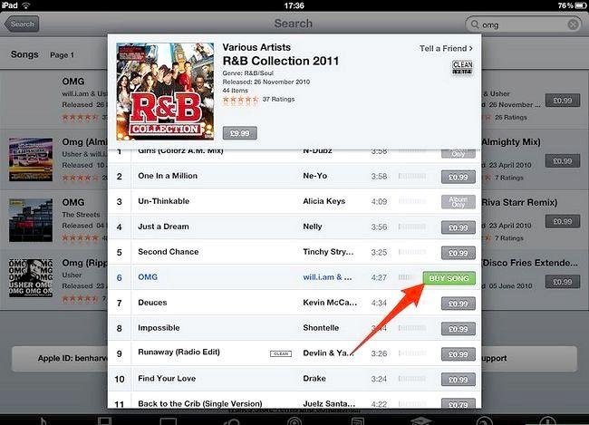 Afbeelding met de titel Koop muziek van iTunes vanaf je iPad Stap 7