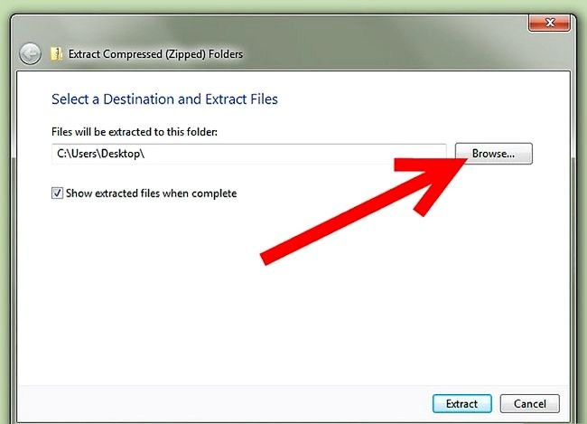 Titel afbeelding Zip to File in Windows XP Stap 14Bullet1
