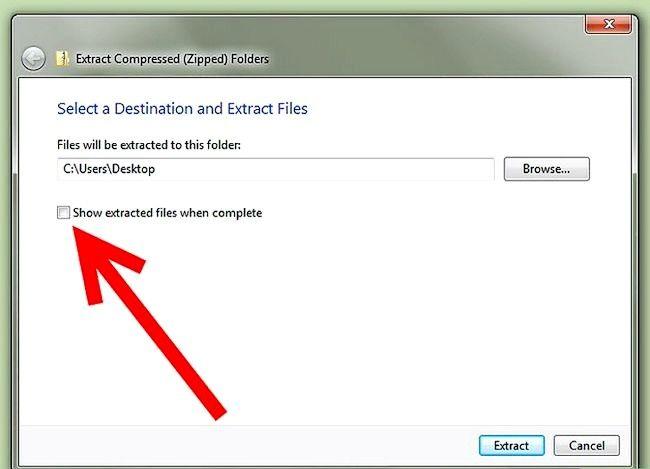 Titel afbeelding Zip to File in Windows XP Stap 16Bullet1