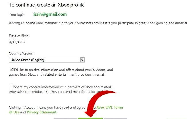 Titel afbeelding Set Up a Free Xbox Live Account op een pc of laptop Stap 11