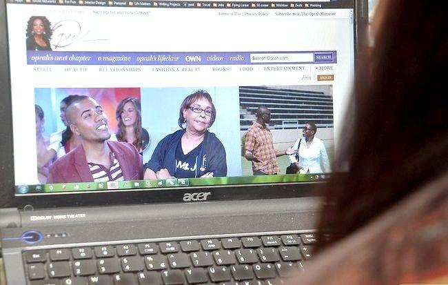 Titel afbeelding Contact Oprah Winfrey Stap 1