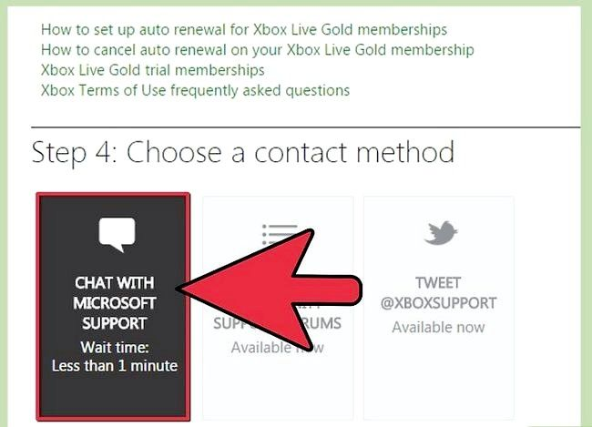 Titel afbeelding Contact Xbox Live Step 5