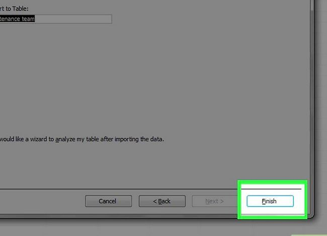Titel afbeelding Create a Database from a Excel Spreadsheet Stap 16