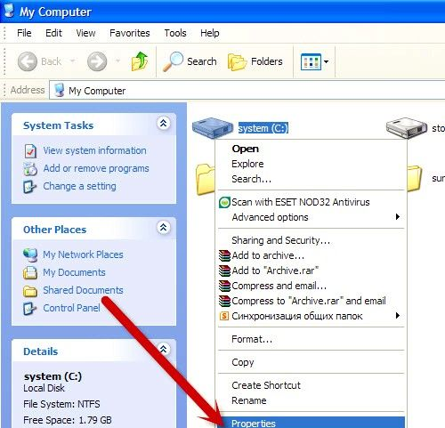 Titel afbeelding Disable File Indexing on Windows XP Step 3