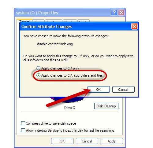 Titel afbeelding Disable File Indexing on Windows XP Step 6