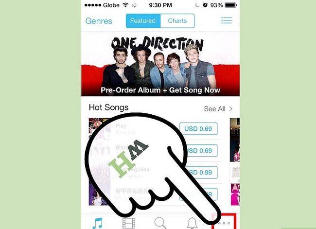Titel afbeelding iTunes-aankopen op een iPhone downloaden Stap 2