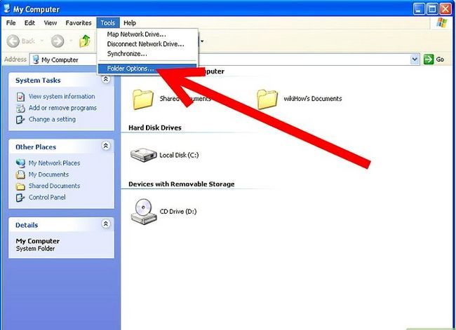 Titel afbeelding Disable Hidden File Extensions in Windows XP Stap 3