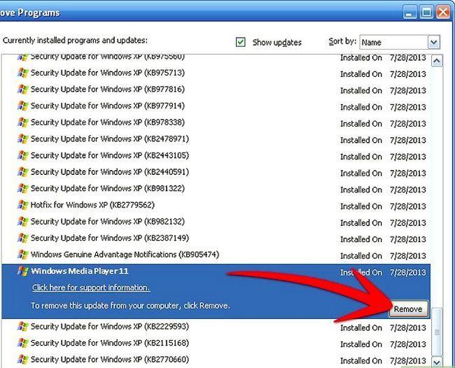 Titel afbeelding Uninstall Windows Media Player 11 Step 7