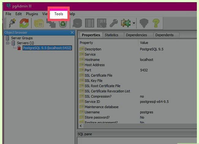Titel afbeelding Uninstall PostgreSQL Step 1