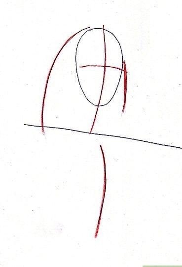 Afbeelding met titel Draw Benjamin Franklin Step 2