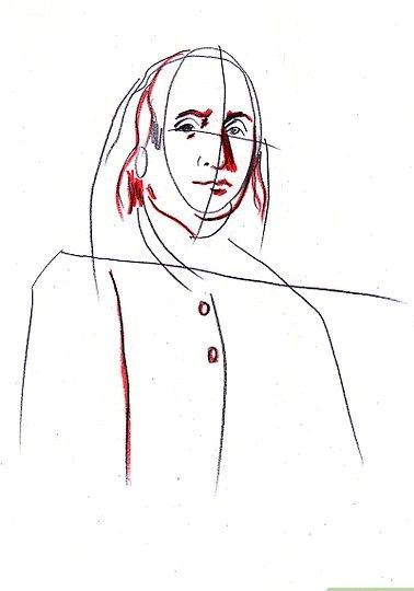 Afbeelding met titel Draw Benjamin Franklin Step 5