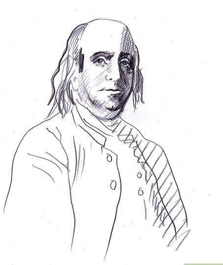 Afbeelding met titel Draw Benjamin Franklin Step 7
