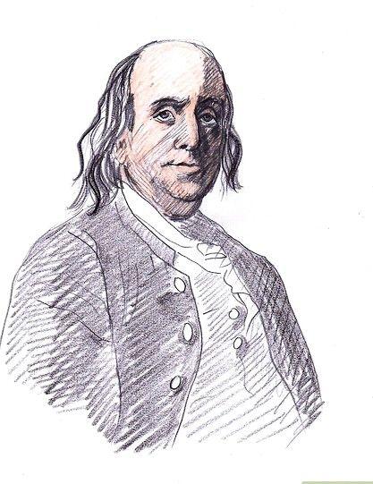 Afbeelding met titel Draw Benjamin Franklin Step 8