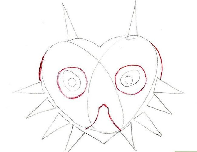 Titel afbeelding Draw Majora`s Mask from the Legend of Zelda Step 5