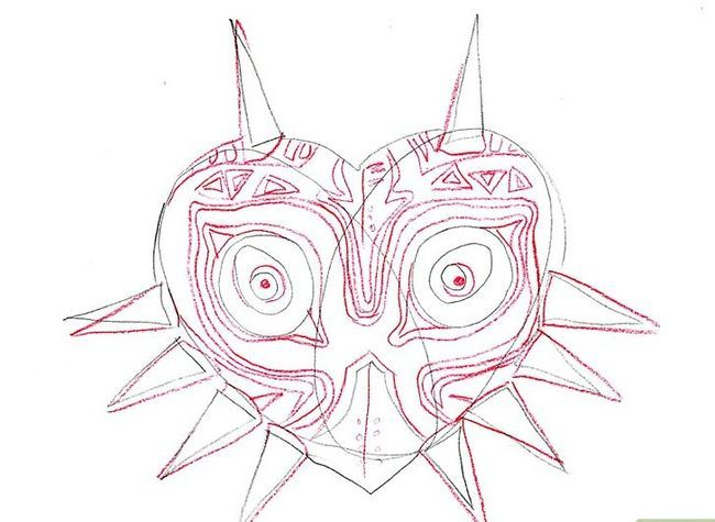 Titel afbeelding Draw Majora`s Mask from the Legend of Zelda Step 6