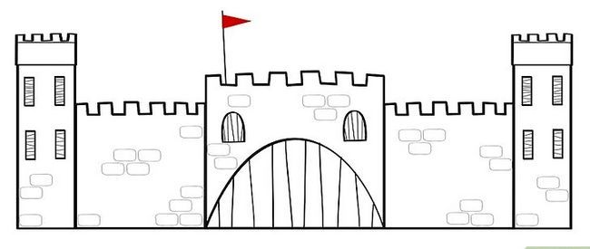 Titel afbeelding How to Draw a Castle Step 5