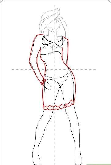 Titel afbeelding Draw a Cute Dress Step 11