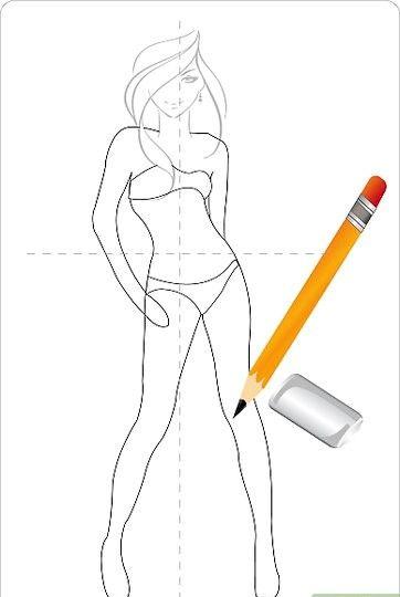 Titel afbeelding Draw a Cute Dress Step 2