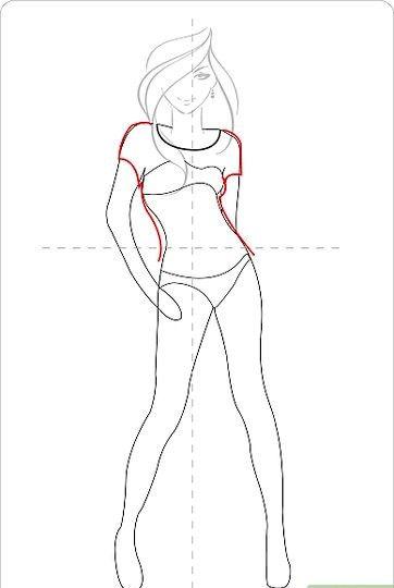 Titel afbeelding Draw a Cute Dress Step 3