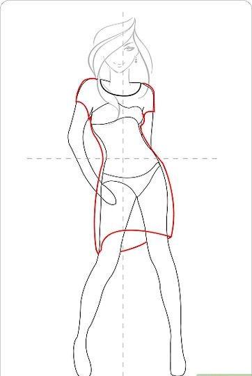 Titel afbeelding Draw a Cute Dress Step 5