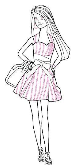 Titel afbeelding Barbie Stripes Step 11