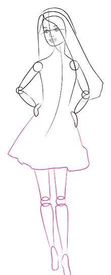 Titel afbeelding Barbie LowerBody Step 6