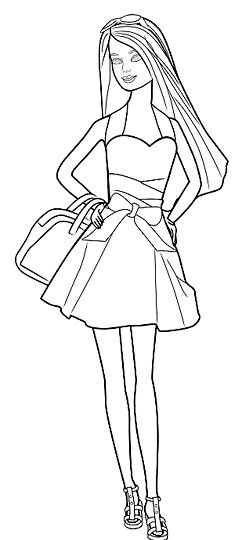 Titel afbeelding Barbie Outline Step 10
