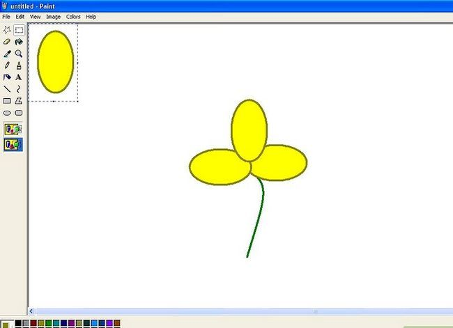 Titel afbeelding Draw a Flower in Microsoft Paint Stap 12