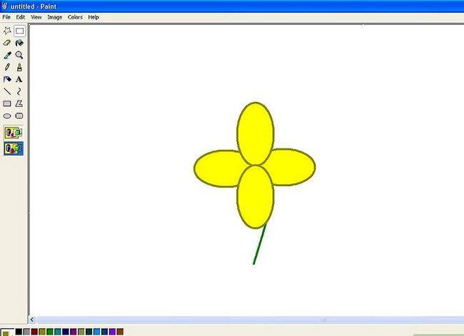 Titel afbeelding Draw a Flower in Microsoft Paint Stap 13