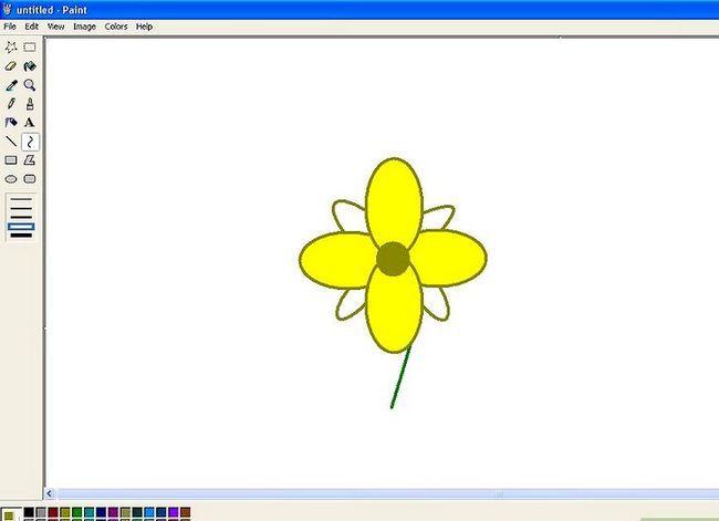 Titel afbeelding Draw a Flower in Microsoft Paint Stap 14