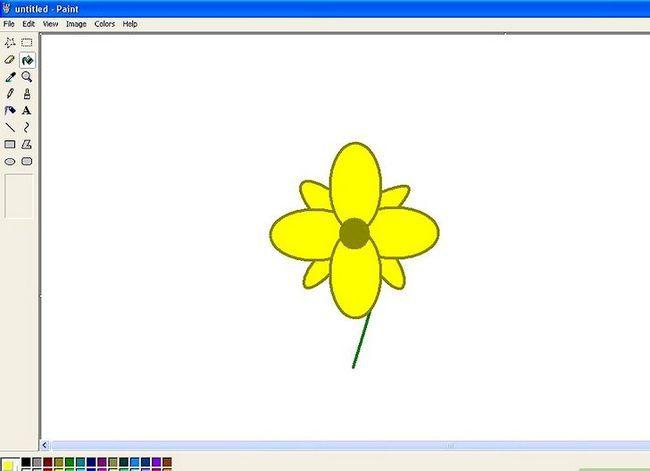 Titel afbeelding Draw a Flower in Microsoft Paint Stap 15