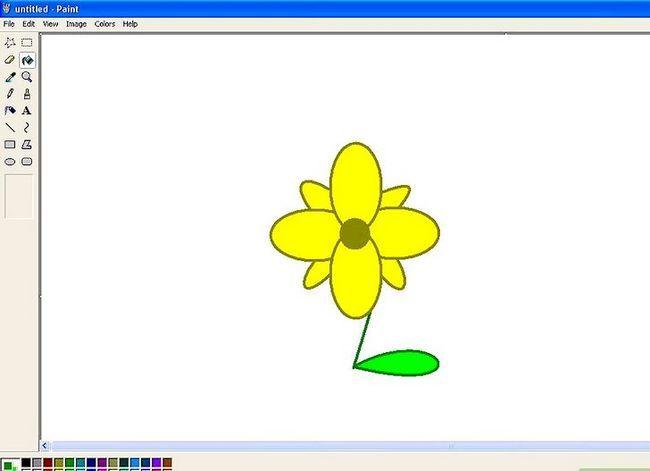 Titel afbeelding Draw a Flower in Microsoft Paint Stap 16