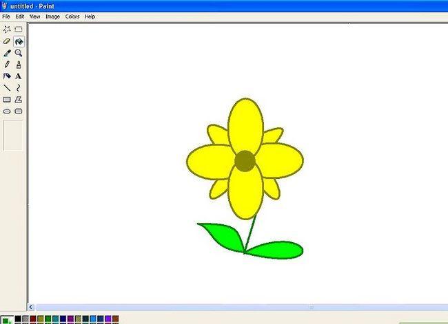 Titel afbeelding Draw a Flower in Microsoft Paint Stap 17