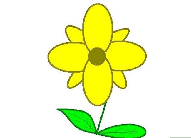 Titel afbeelding Draw a Flower in Microsoft Paint Stap 18