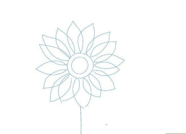 Titel afbeelding Draw a Flower Step 4