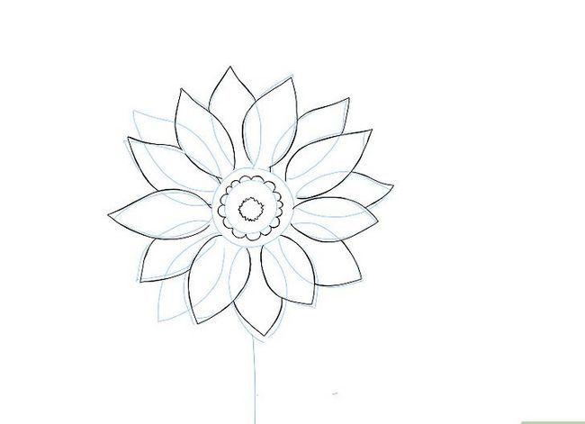 Titel afbeelding Draw a Flower Step 6