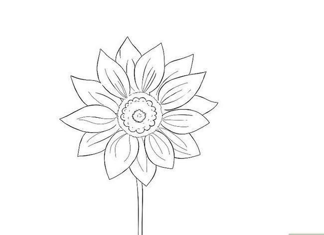 Titel afbeelding Draw a Flower Step 8
