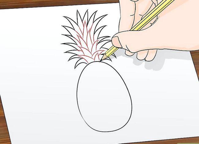 Titel afbeelding Draw a Pineapple Step 4