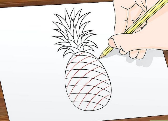 Titel afbeelding Draw a Pineapple Step 6